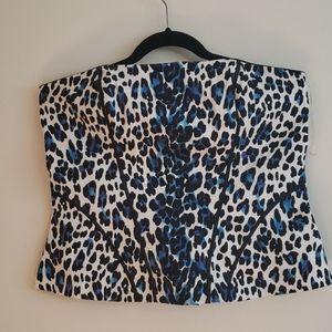 Black House White Market Cheetah Animal Print Top